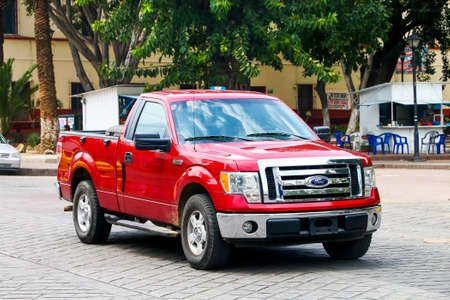 Oaxaca, Mexico - May 25, 2017: Pickup truck Ford Lobo in the city street.