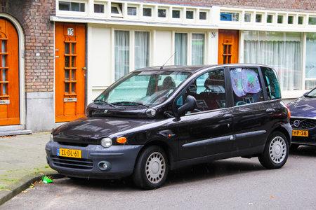 Amsterdam, Netherlands - August 10, 2014: Motor car Fiat Multipla in the city street.