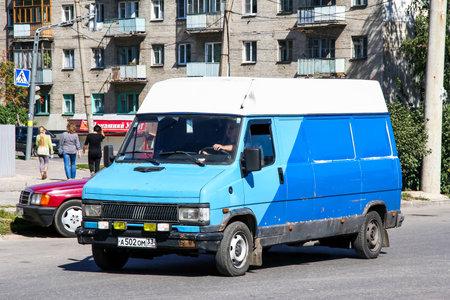 Vladimir, Russia - August 24, 2011: Cargo van Fiat Ducato in the city street.