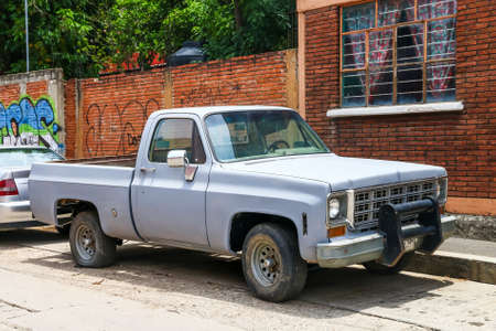 Oaxaca, Mexico - May 25, 2017: Pickup truck Chevrolet C-series in the city street.