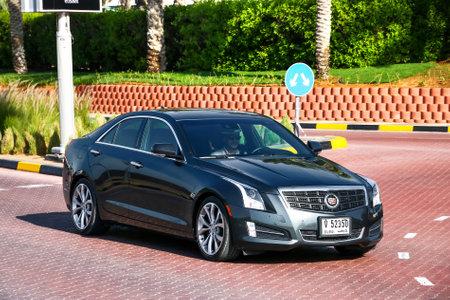 Dubai, UAE - November 15, 2018: Motor car Cadillac ATS in the city street.