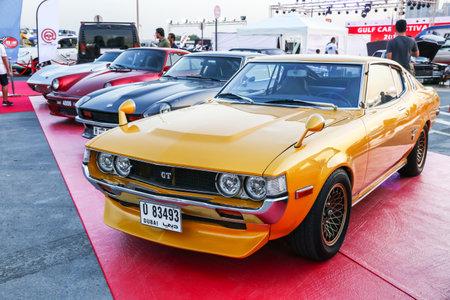 Dubai, UAE - November 15, 2018: Motor car Toyota Celica takes part in the annual Gulf Car Festival.
