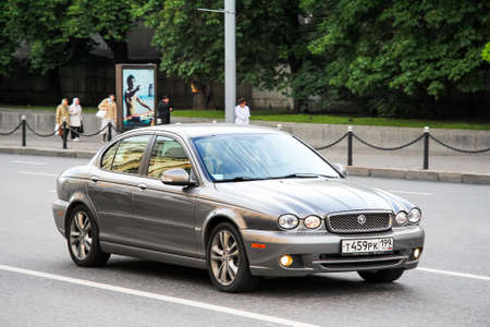 Moscow, Russia - June 3, 2012: Motor car Jaguar X-Type in the city street. Редакционное