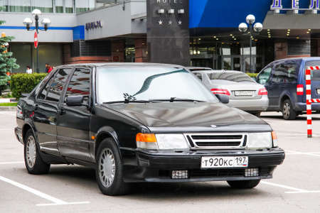 Moscow, Russia - June 2, 2012: Motor car Saab 9000 in the city street.