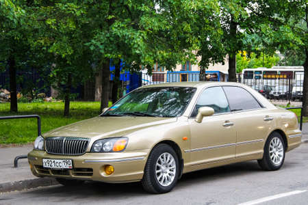 Moscow, Russia - June 2, 2012: Motor car Hyundai Grandeur in the city street.