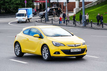 Moscow, Russia - June 3, 2012: Motor car Opel Astra GTC in the city street. Editorial