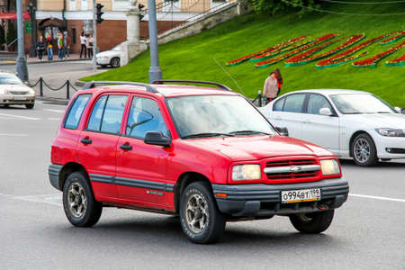 Moscow, Russia - June 3, 2012: Motor car Chevrolet Tracker in the city street.