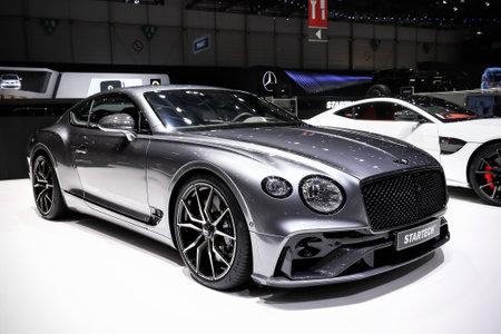 Geneva, Switzerland - March 10, 2019: Startech tuned Bentley Continental GT presented at the annual Geneva International Motor Show 2019. Editorial