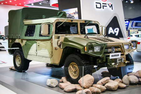 Moscow, Russia - September 2, 2016: Chinese off-road car DongFeng Warrior presented at the annual Moscow International Motor Show MIMS-2016. Editorial