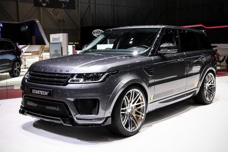 Geneva, Switzerland - March 10, 2019: Startech tuned luxury offroad car Range Rover presented at the annual Geneva International Motor Show 2019.