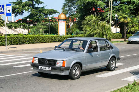 Sochi, Russia - July 19, 2009: Grey compact car Opel Kadett in the city street. Editorial