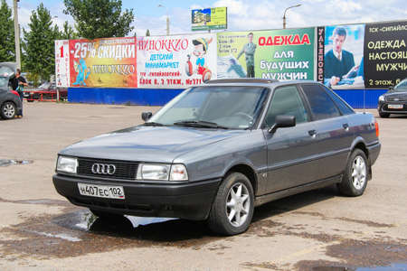 Ufa, Russia - July 28, 2012: Motor car Audi 80 in the city street. Editorial