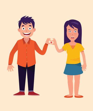 love couple Ilustrace