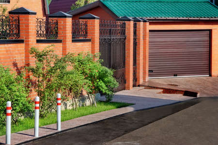 Automatic Garage Gate and brick fence