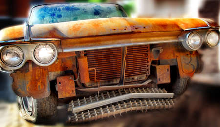junk car: Old Junk Car  Tilt-Shift effect