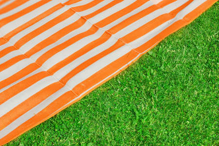beach mat: Picnic or Beach mat and grass