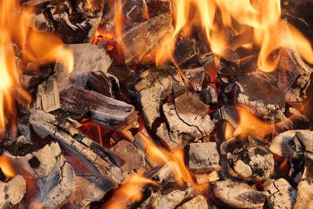 xxxl: Burning Coals close-up, XXXL Stock Photo