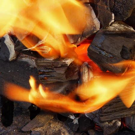 Burning Coal Bright Flame BBQ   photo