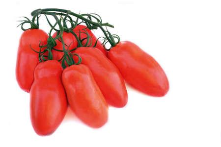 Fresh long tomato Isolated on White background 版權商用圖片