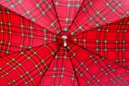 brolly: Scottish Tartan Fondo Paraguas con copia espacio Foto de archivo