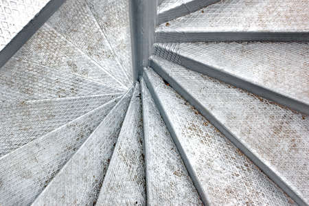 Metal Spiral Staircase. Background and Texture for text or image photo