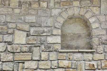 niche: Old Stone Wall with Niche Background Stock Photo