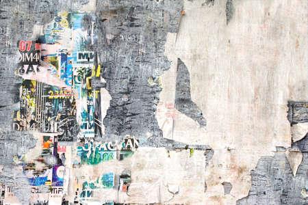 graffiti: Antiguo Cartelera con los carteles rasgados Antecedentes