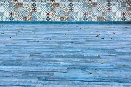 Terrace Blue Flooring and Tiled Wall photo