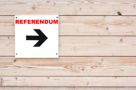 i voted: DANGER WAY Black Sign and Arrow on Whiteboard. Timber White Wall in Background