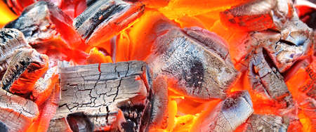 Burning Charcoal Background  or Texture