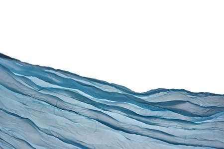 celadon blue: Corner Blue Aqua Water Wavy Fabric Textured Background With Free Copy Space For Text Or Image