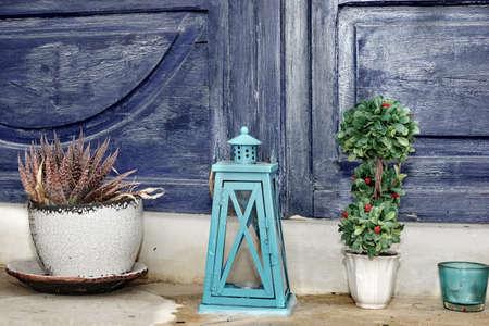 luminaire: Vintage Home House Floor Decoration, Flowerpots And Candle Lanterns