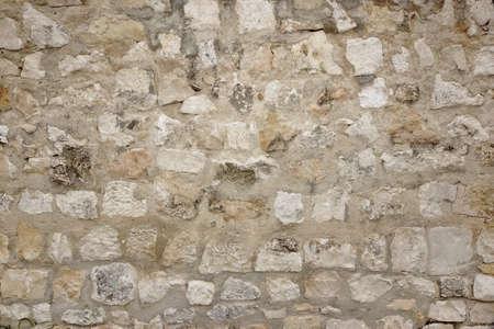 stonework: Granite Stone Wall With Cement Seam, Stonework Background Texture Stock Photo