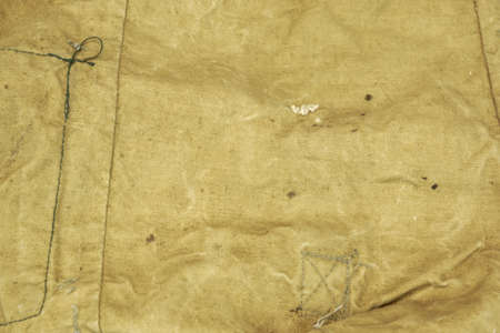 haversack: Weathered Faded Military Army Style Camouflage Backpack Or Bag Or Uniform Background Texture Closeup