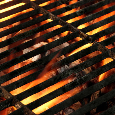 holzbriketts: BBQ Grill Abstract Frame Background Texture Close-up