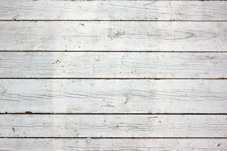 wood fences: Old Weathered Rough Rustic Painted White Wall With Nails Texture And Background With Space For Text Or Image Stock Photo