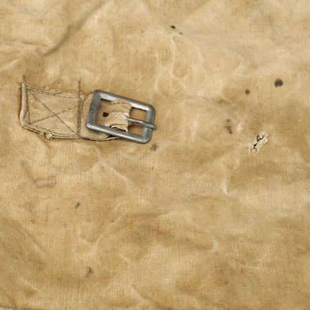 duffel: Old Faded Military Army Camouflage Backpack Or Bag Or Uniform Square Frame Background Texture Close-up Top View