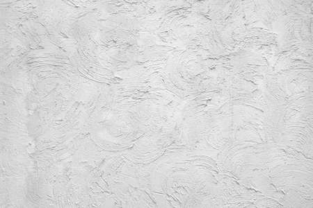 White Plastered Wall  Fragment With Brushstroks Handmade Abstract Pattern Background Texture Stock Photo