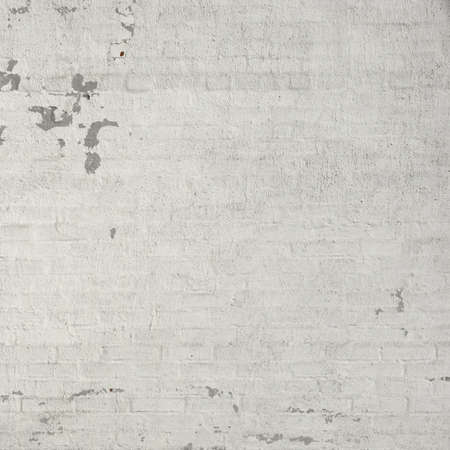 Rustic Vintage White Brick Wall Texture Background With Copy Space
