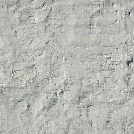 blanch: Retro Uneven White Painted And Plastered Brick Wall Frame Background Texture Close-up Stock Photo