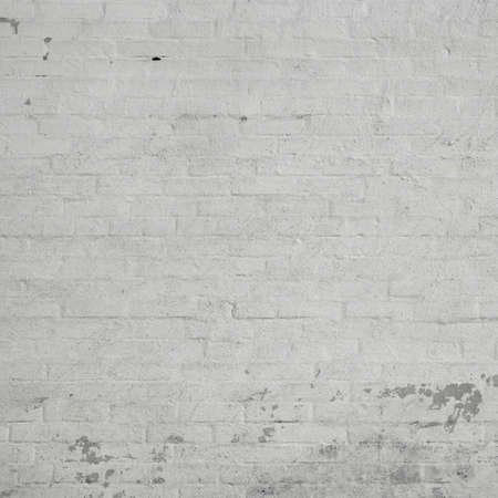 Old Rustic White Brick Wall With Whitewash Painted Plaster Layer Frame Background Texture Close Up Photo