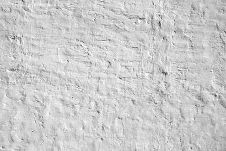 Whitewashed Old Brick Wall Uneven Bumpy Rough Rustic Background Texture Closeup With Copy Space Stock Photo