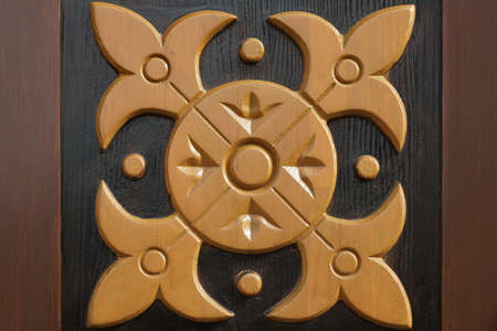 tallado en madera: Panel de madera decorativo Con textura Fondo Abstracto Alebrije Ornamento