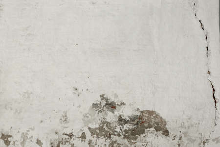 painted background: Cracked White Brick Wall Fragment With Peeled Painted Plaster, Background, Texture
