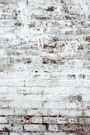housebreaking: Old Rough Red Brick Wall With Whitewash Vertical Backround Texture