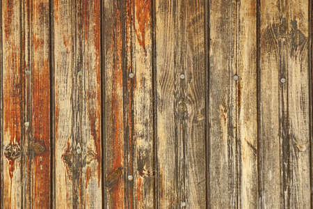 splintered: Batural Rustic Brown Weathered Wood Plank Wall Panel With Nails Head Horizontal Background Texture Close-up