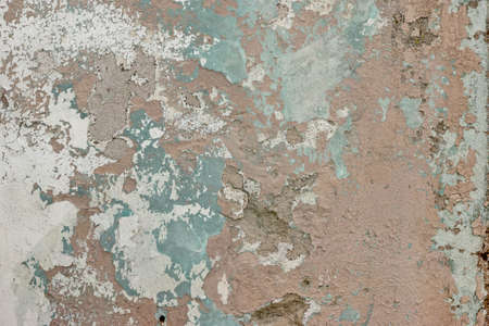 Old Weathered Paint Layer On The Grey Concrete Wall Texture or Close Up Background