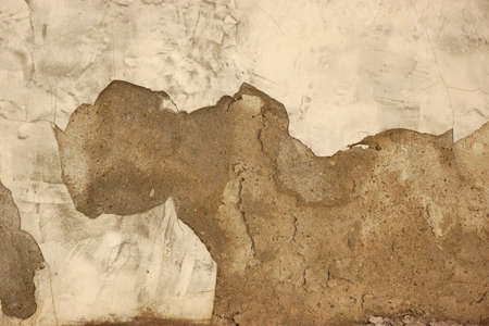 damaged cement: White Brick Wall Texture Or Background With Grey Damaged Cement Plaster Coating Stock Photo