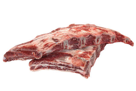 black angus: Raw Black Angus Marbled Beef Ribs Isolated On White Background. Beef Meat. Cookout Food