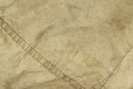 Old Faded Army Military Camouflage Sac à dos ou un sac ou uniforme Fond Horizontal Texture Close-up Top View